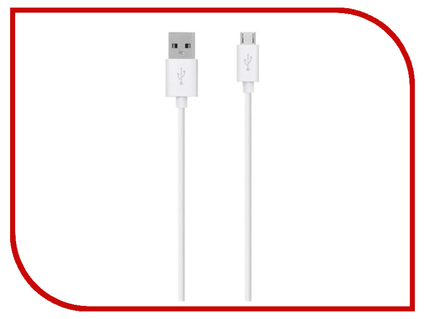 Аксессуар Belkin USB to Micro USB Cable 2.0m White F2CU012bt2M-WHT usb to dc power charging cable for wii battery white 1 2m