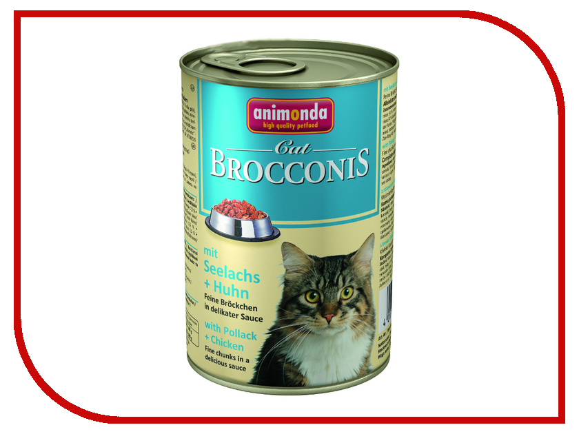 Корм Animonda Brocconis Cat с Сайдой и Курицей 400g для кошек 83379<br>