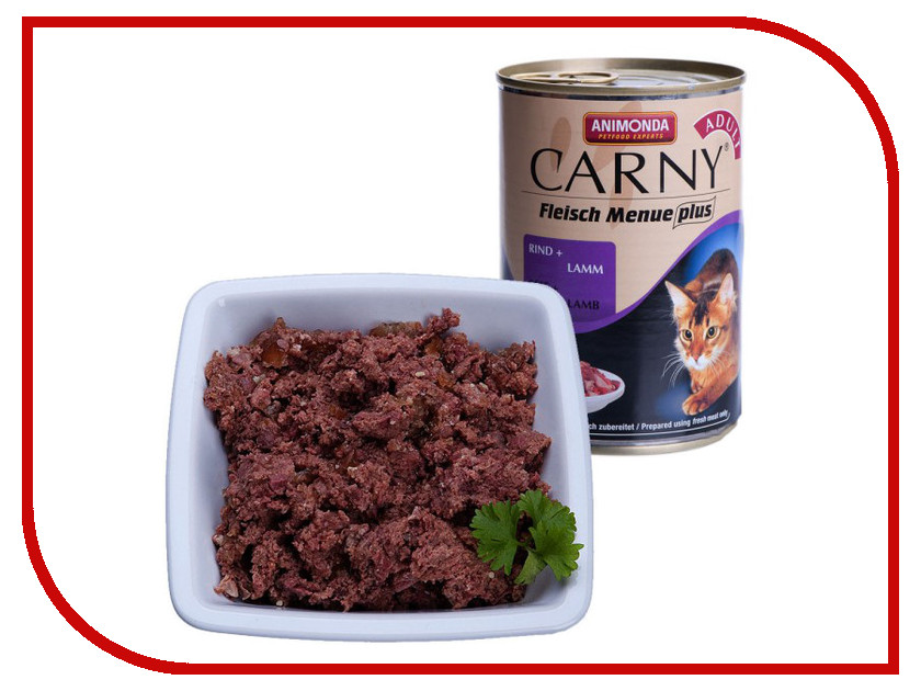 Корм Animonda Carny Adult Говядина/Ягнёнок 400g для кошек 83506/83721 400g lot top grade 10
