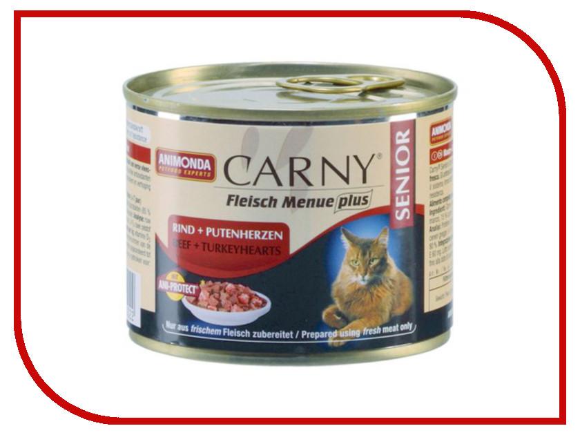 Корм Animonda Carny Senior Говядина/Индейка 200g для кошек 83502
