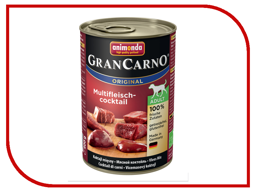 Корм Animonda Gran Carno Original Adult Мясной коктейль 400g для собак 001/82730<br>
