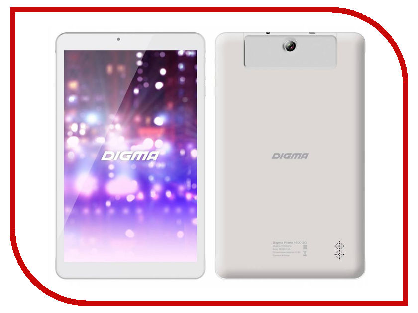 Планшет Digma Plane 1600 3G White PS1036PG Spreadtrum SC7731 1.3 GHz/1024Mb/8Gb/Wi-Fi/Bluetooth/Cam/10.1/1280x800/Android