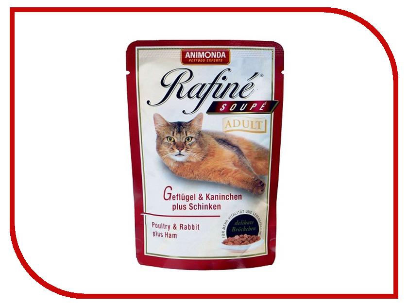 83655  Корм Animonda Rafine Soupe Adult Птица/Кролик/Ветчина 100g для кошек 83655