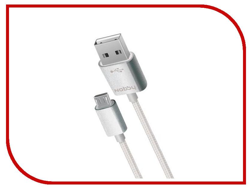 Аксессуар Nobby Comfort 012-001 USB-microUSB 1.0m Grey 09347<br>