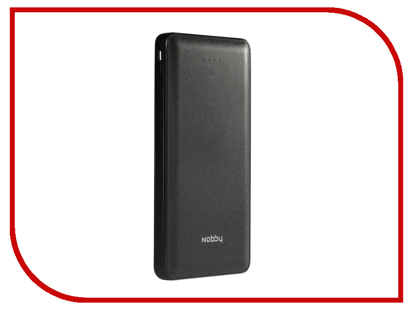 Аккумулятор Nobby Slim 027-001 8000 mAh USB 2.1A Black 09357<br>