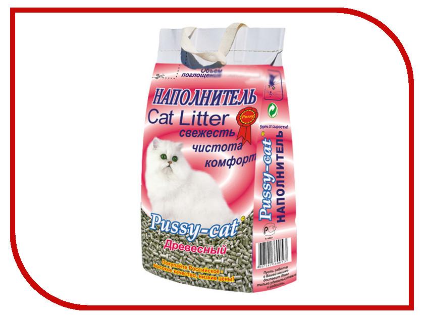 Наполнитель Pussy-Cat Древесный 10л