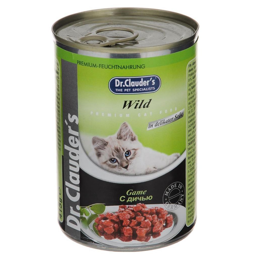 Корм Dr.Clauders Дичь 415g для кошек 211406