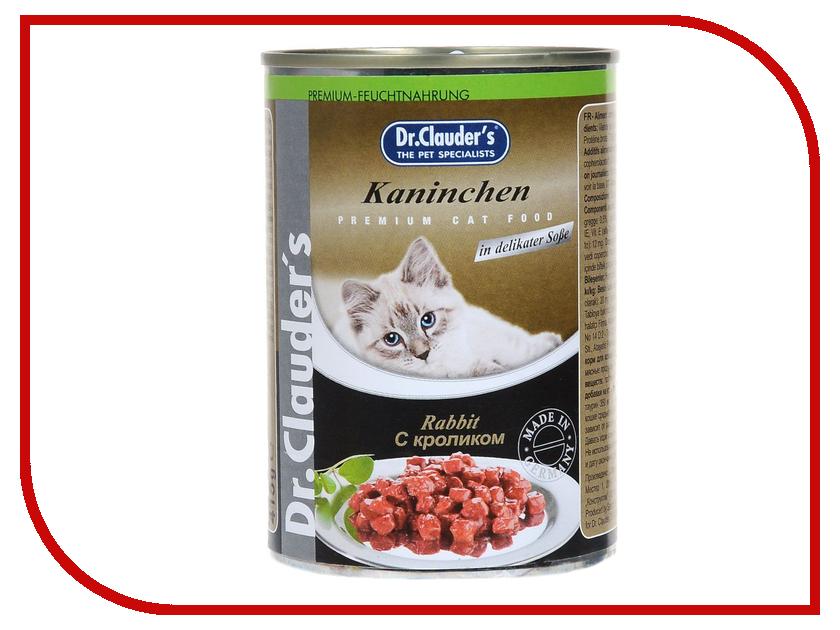 211444  Корм Dr.Clauders Кролик 415g для кошек 211444