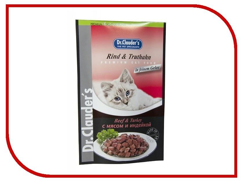 Корм Dr.Clauders Мясо/Индейка 100g для кошек 211185<br>