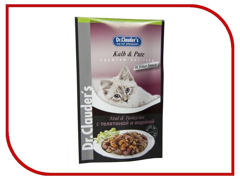 Корм Dr.Clauders Телятина/Индейка 100g для кошек 211192