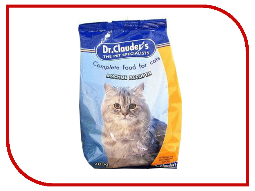 Корм Dr.Clauders Мясное ассорти 0.4kg для кошек 4071