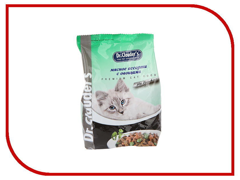 Корм Dr.Clauders Мясное ассорти с овощами 0.4kg для кошек 204088