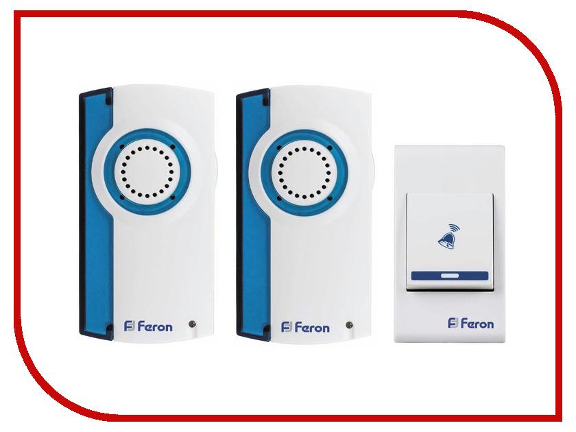 Звонок дверной Feron E-370 White Blue беспроводной<br>