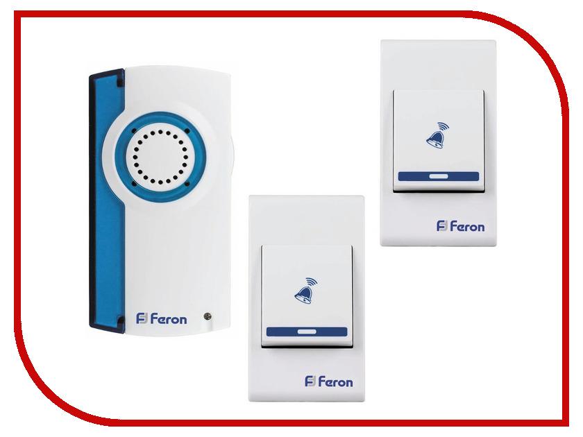 Звонок дверной Feron E-371 White Blue беспроводной