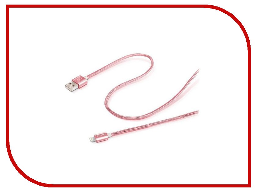 Аксессуар Celly MFi USB-Lightning Pink Gold USBLIGHTTEXRG