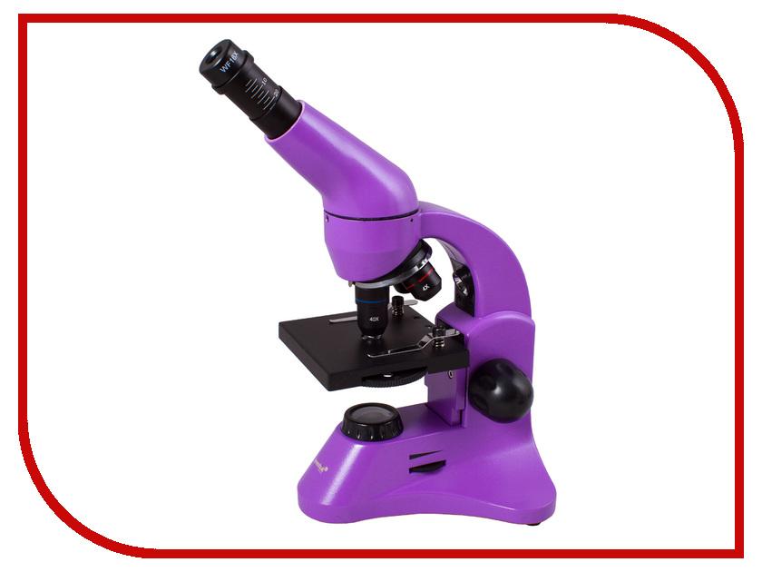 Микроскоп Levenhuk Rainbow 50L Plus Amethyst 69052 цена