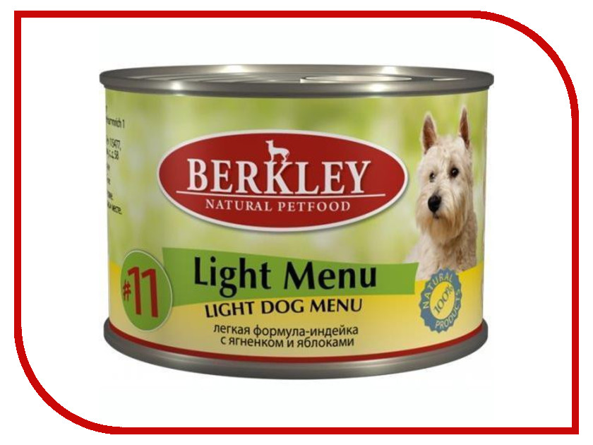 Корм Berkley Легкая формула №11 200г для собак 75010<br>