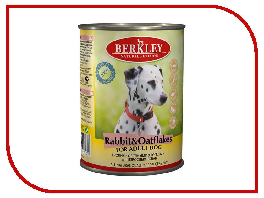 Корм Berkley Кролик с овсянкой 400г для собак 75072. Производитель: Berkley, артикул: 321031