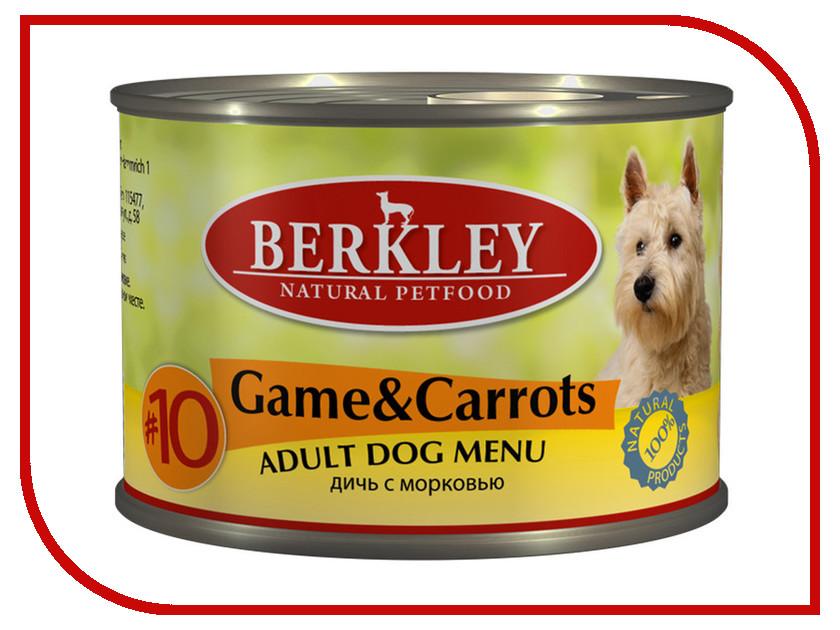 Корм Berkley Оленина с морковью №10 200г для собак 75006<br>