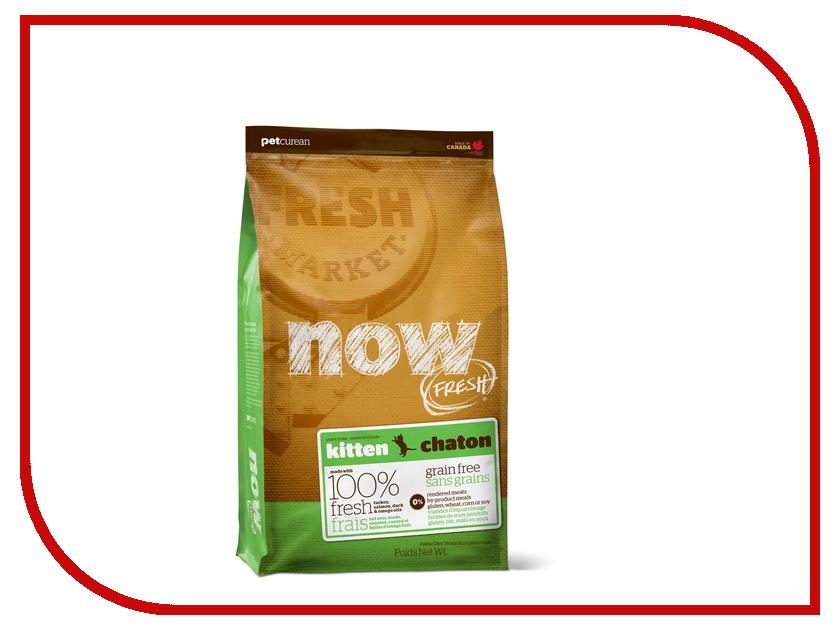 Корм Now Fresh беззерновой с Индейкой, уткой и овощами 230г для котят 03735 корм now fresh беззерновой с индейкой уткой и овощами 230г для котят 03735