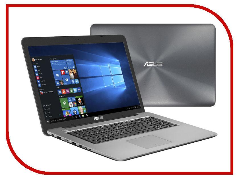 Ноутбук ASUS X756UQ-TY121T 90NB0C33-M01340 (Intel Core i7-6500U 2.5 GHz/8192Mb/1000Gb/DVD-RW/nVidia GeForce 940MX 2048Mb/Wi-Fi/Bluetooth/Cam/17.3/1600x900/Windows 10 64-bit)<br>