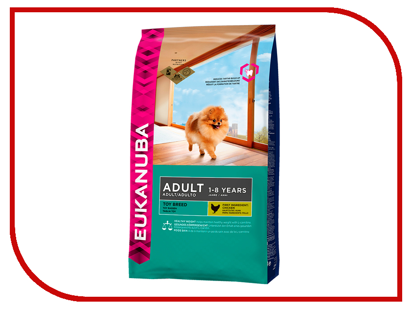 Корм Eukanuba Toy Adult dogs Dry 500g для собак 10135705