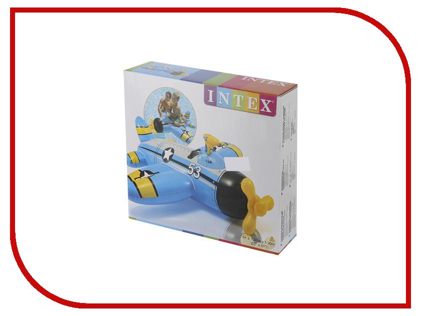 Игрушка для плавания Intex Самолет 57537 игрушка для плавания intex плот остров hello kitty 56513
