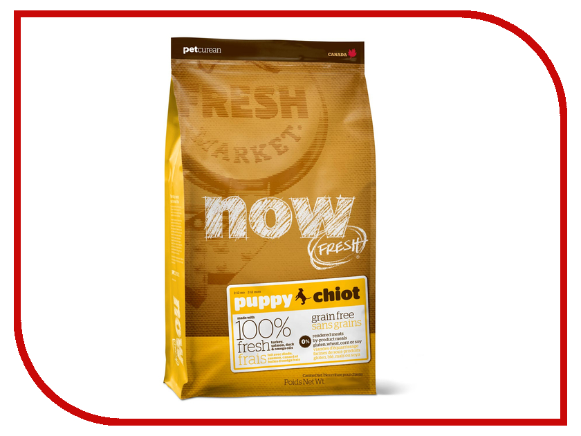 Корм Now Fresh беззерновой с Индейкой, уткой и овощами 2.72кг для щенков 03346