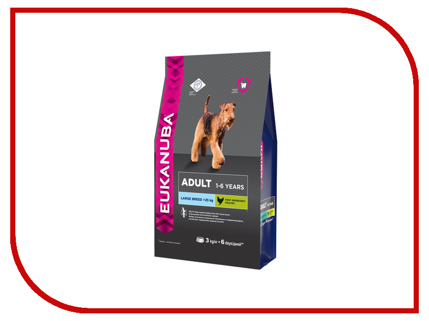 Корм Eukanuba Large Breed Adult Dog 3kg для собак 10137539 01089 / 2279