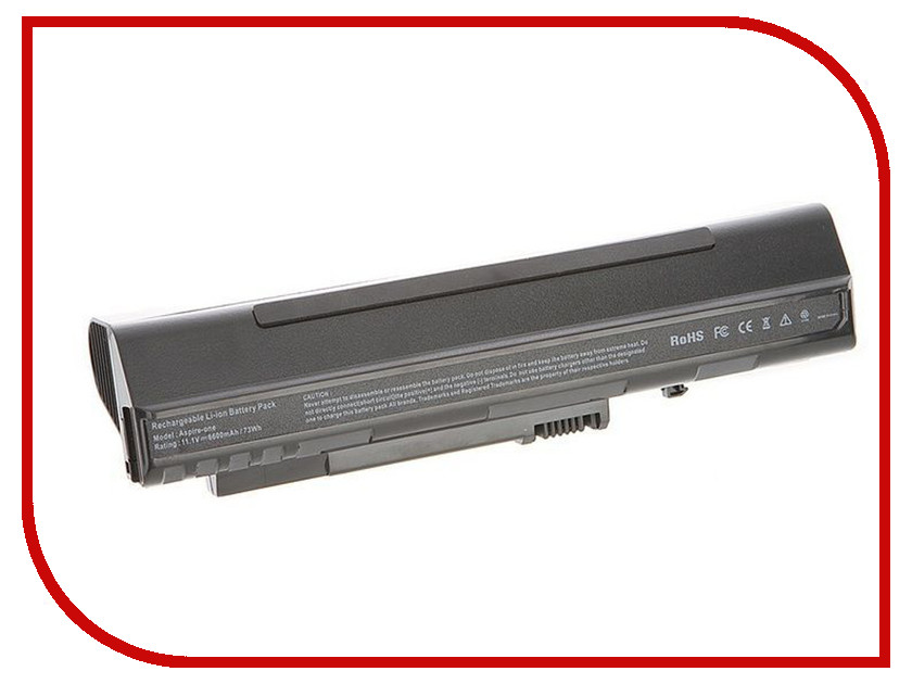 Аккумулятор 4parts LPB-A150H для Acer Aspire One A110/A150/D250/eMachines 250/ZG5 Series 11.1V 6600mA аналог PN:UM08A31 UM<br>