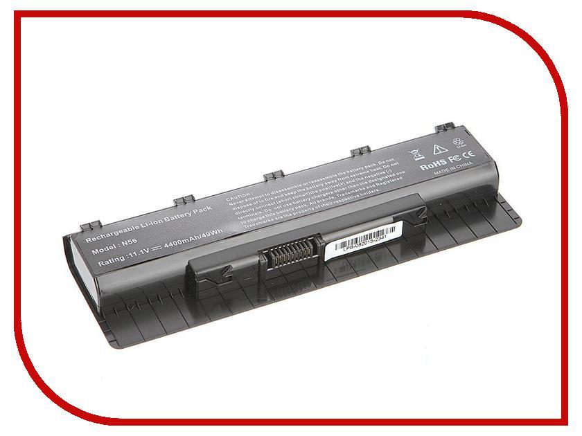 Аккумулятор 4parts LPB-N56 для ASUS N46/N56/N76 Series 11.1V 4400mAh аналог PN:A31-N56/A32-N56/A33-N56