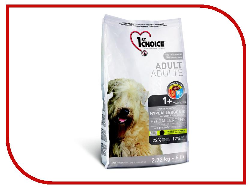 Корм 1st CHOICE Утка с картофелем 2.72kg для собак гипоаллергенный 102.323