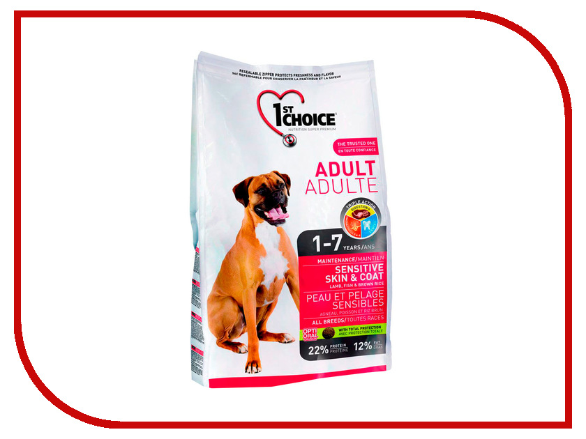Корм 1st CHOICE Ягненок с рыбой и рисом 7kg для собак с чувствительной кожей 102.320<br>