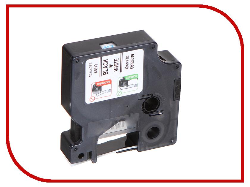 Картридж DYMO D1 12mm-7m для принтеров этикеток S0720530 / 360365 лента для печатающего устройства puty 2 dymo letra 91201 letratag 91201