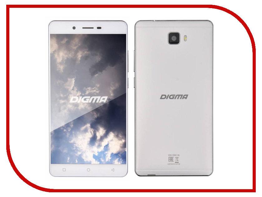 Сотовый телефон Digma Vox S502 3G White сотовый телефон digma vox s502 3g grey