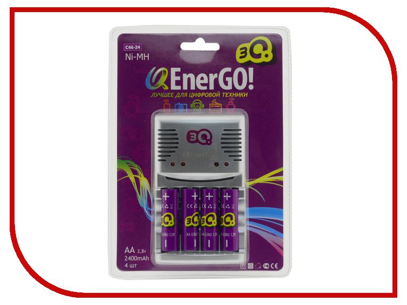Зарядное устройство 3Q QEnerGO! C46 + 4 ак. AA 2400 mAh