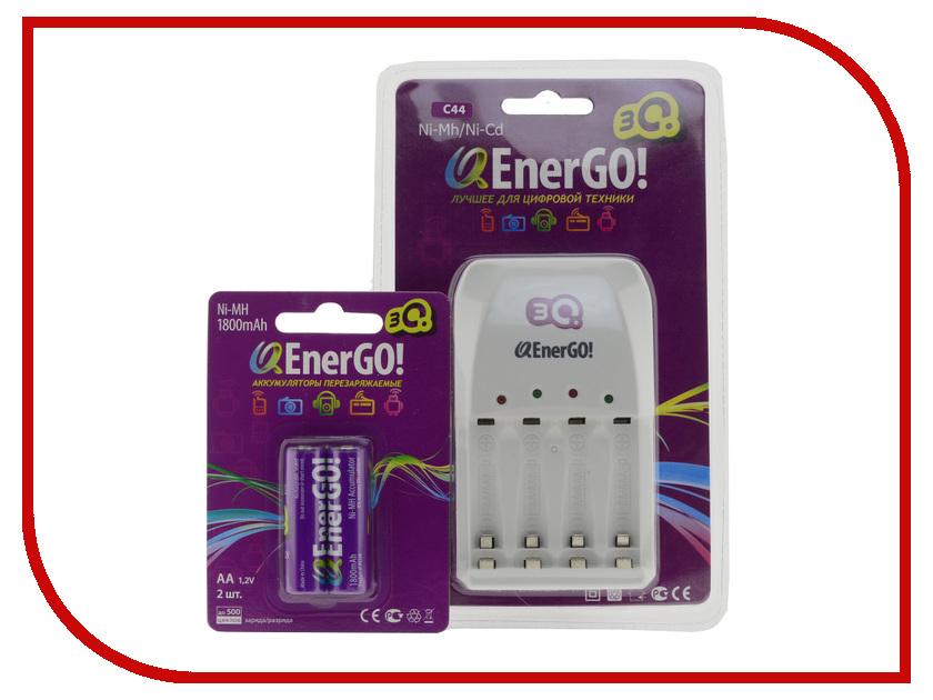Зарядное устройство 3Q QEnerGO! C44 + 2 ак. AA 1800 mAh
