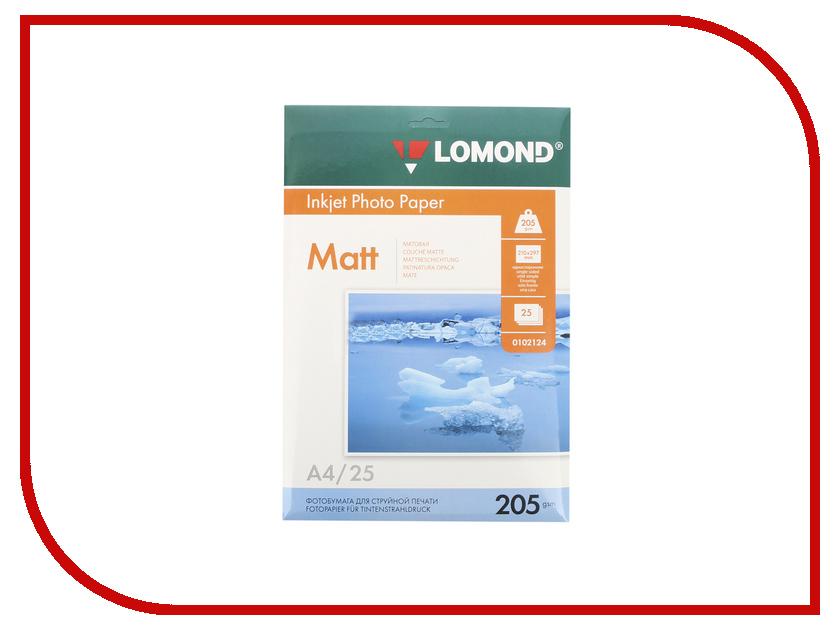 Фотобумага Lomond A4 205g/m2 матовая односторонняя 25 листов 0102124