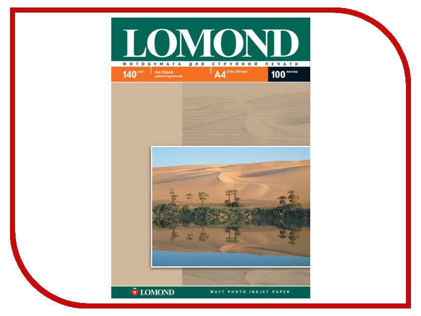 Фотобумага Lomond 0102074 матовая 140g/m2 A4 односторонняя 100 листов фотобумага lomond 0102066 глянцевая 140g m2 a3 односторонняя 50 листов