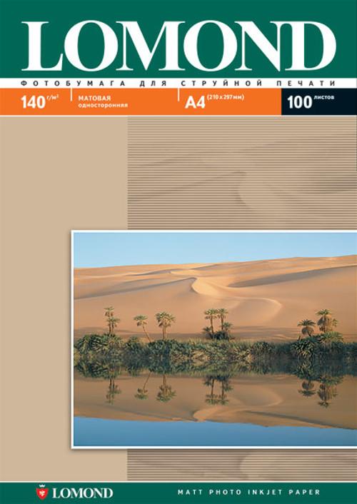 Фотобумага Lomond A4 140g/m2 матовая односторонняя 100 листов 102074 цена