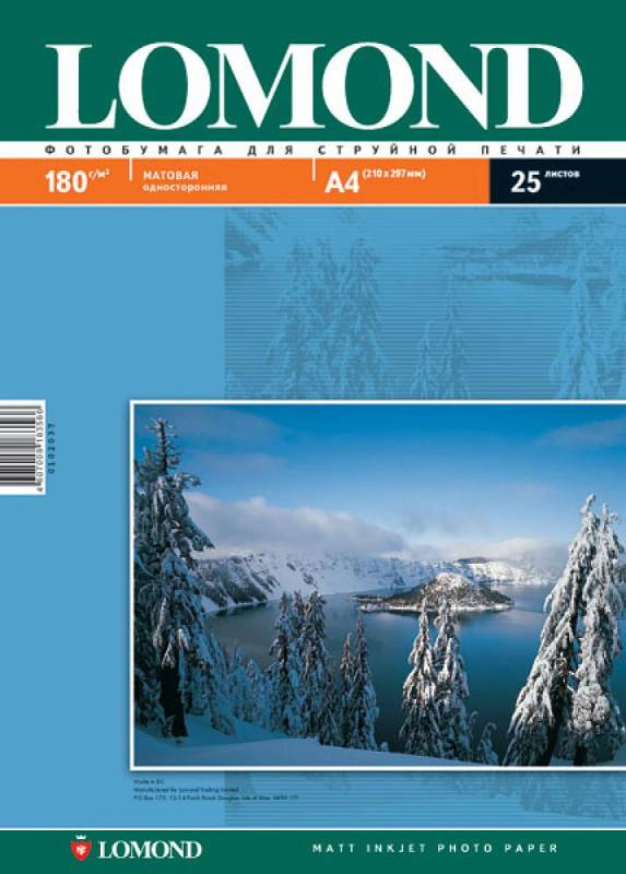 Фотобумага Lomond A4 180g/m2 матовая односторонняя 25 листов 102037