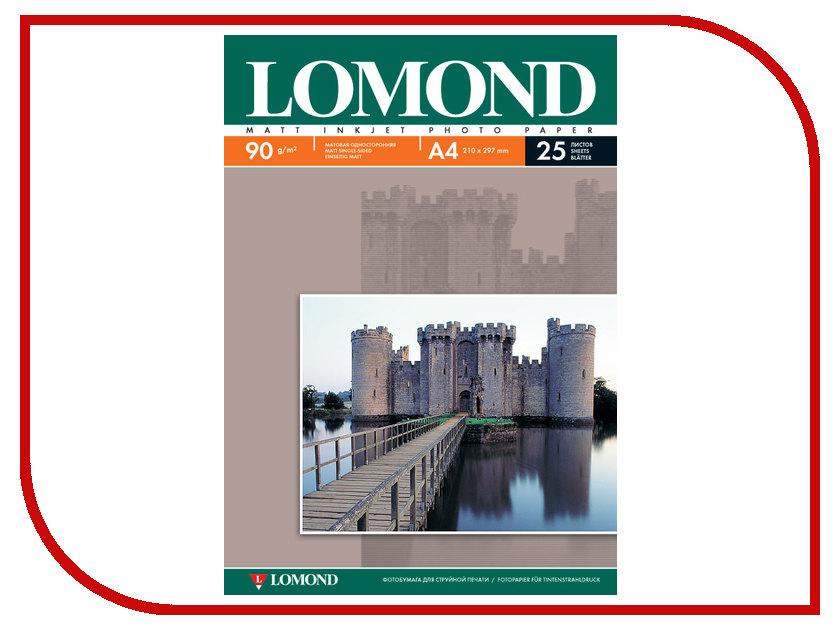 Фотобумага Lomond 0102029 матовая 90g/m2 A4 односторонняя 25 листов