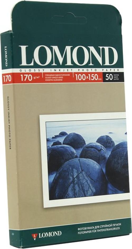 Фотобумага Lomond 170g/m2 глянцевая односторонняя 50 листов 102150