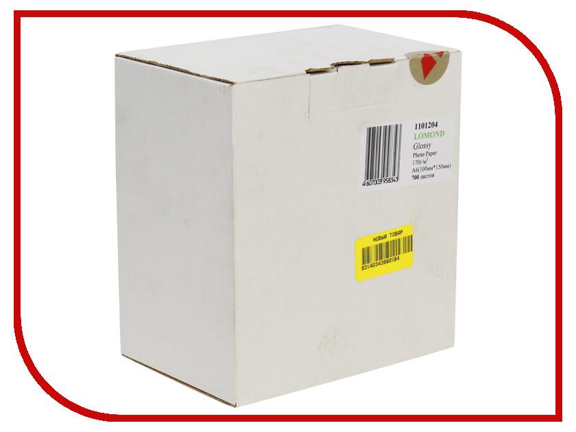 Фотобумага Lomond 1101204 глянцевая 170g/m2 10x15cm 700 листов