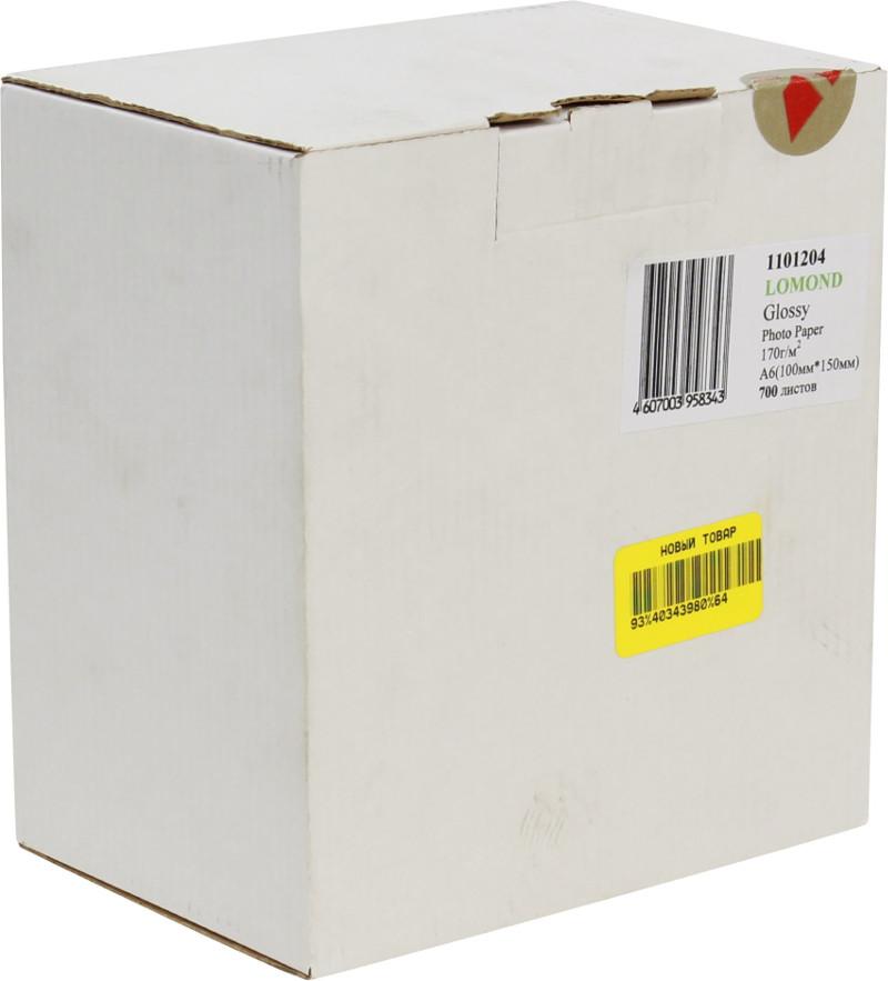 Фотобумага Lomond 100x150 170g/m2 глянцевая 700 листов 1101204