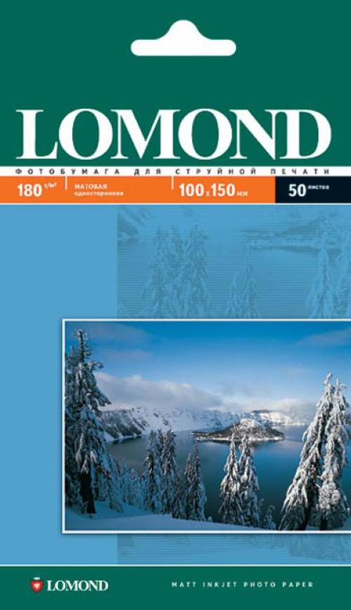 Фотобумага Lomond 100x150 180g/m2 матовая односторонняя 50 листов 102063