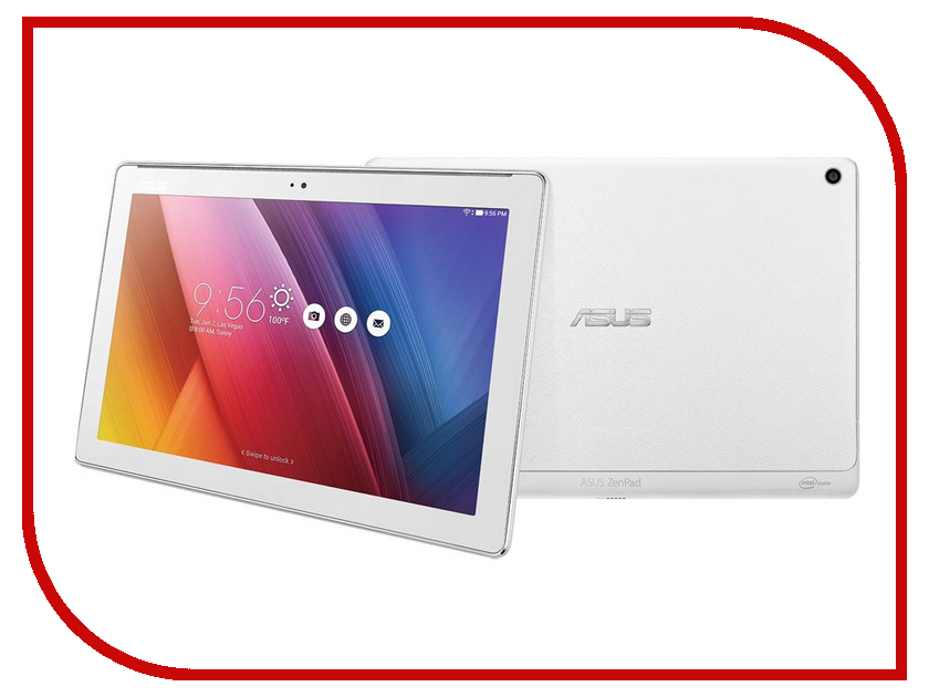 Планшет ASUS ZenPad 10 Z300CG White 90NP0213-M00270 Intel Atom x3-C3230 1.2 GHz/1024Mb/16Gb/GPS/3G/Wi-Fi/Bluetooth/Cam/10.1/1280x800/Android<br>