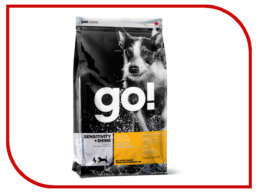 Корм GO! Утка/Овсянка 11.35kg для щенков 00956 withings go