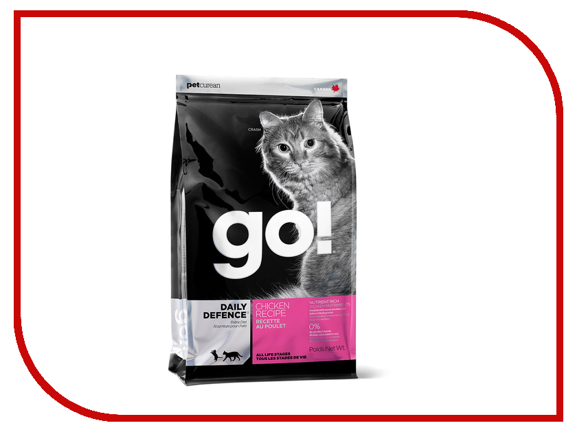Корм GO! Курица/Фрукты/Овощи 1.82kg для котят и кошек 00758<br>
