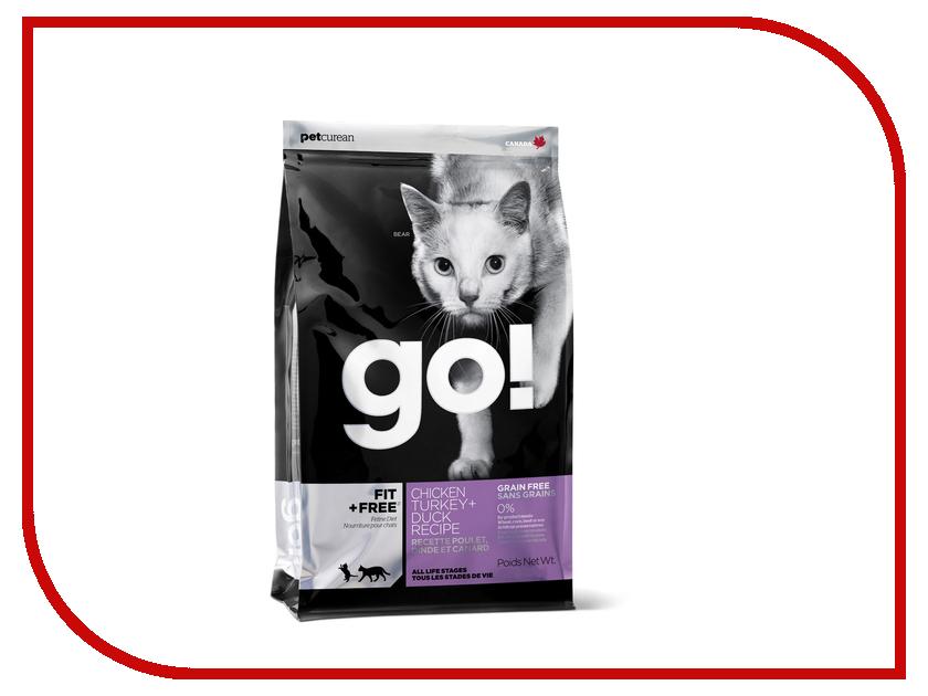 Корм GO! Курица/Индейка/Утка/Лосось 230g для котят и кошек 00789<br>